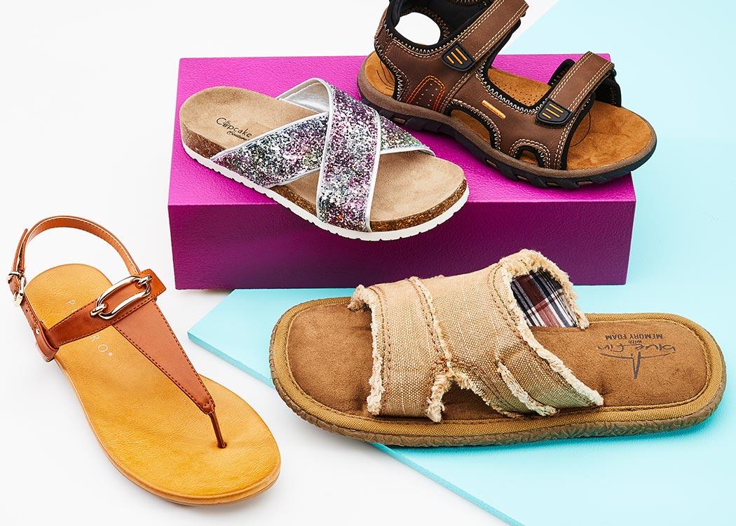 summer sandal assortment