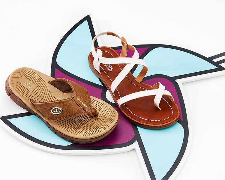 bluefin and cupcake coutour sandals