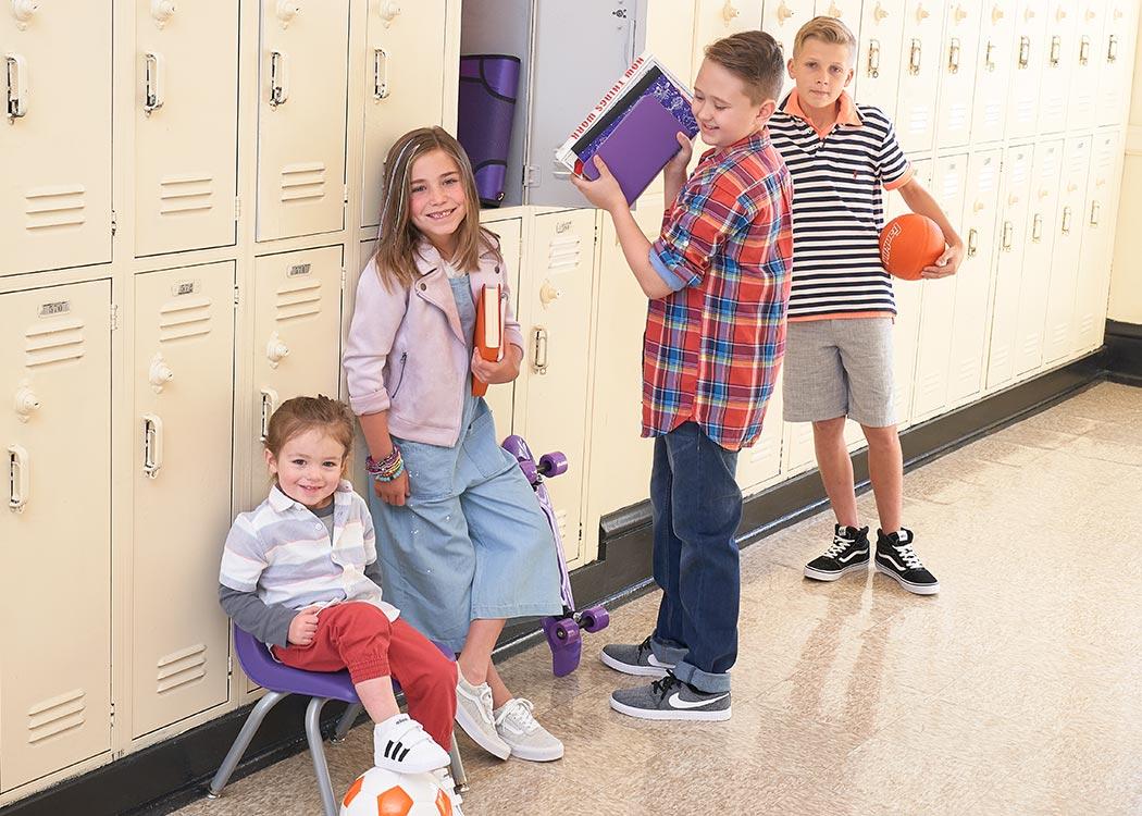 Kids wearing vans, nike, and adidas sneakers