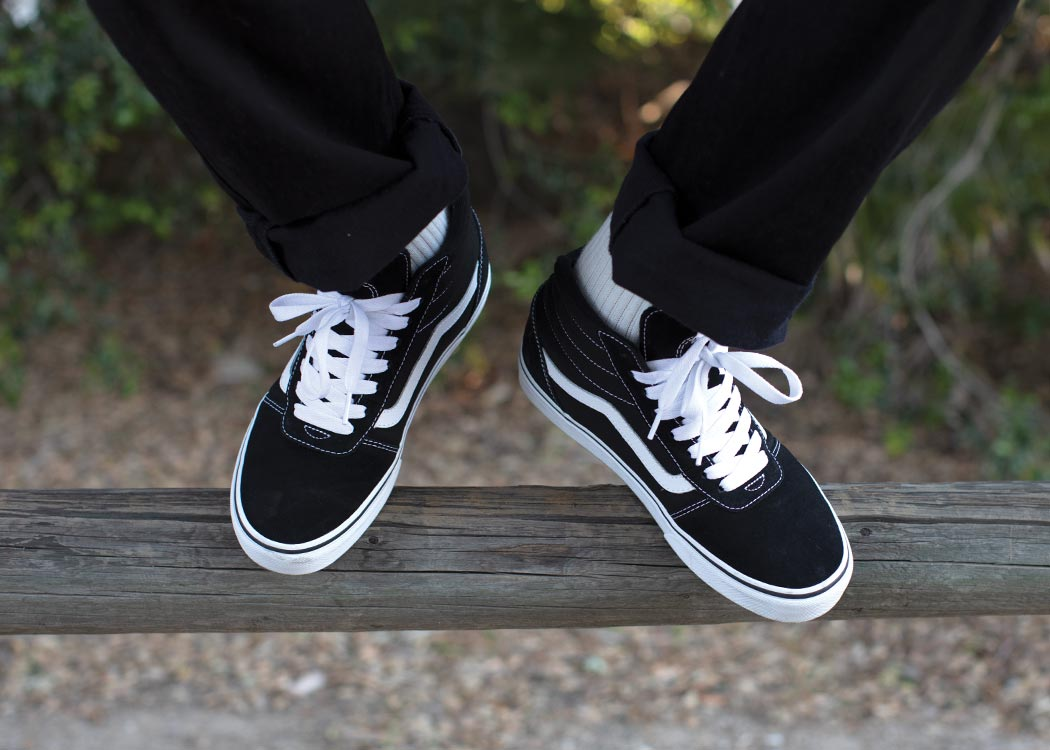 men's black vans high tops