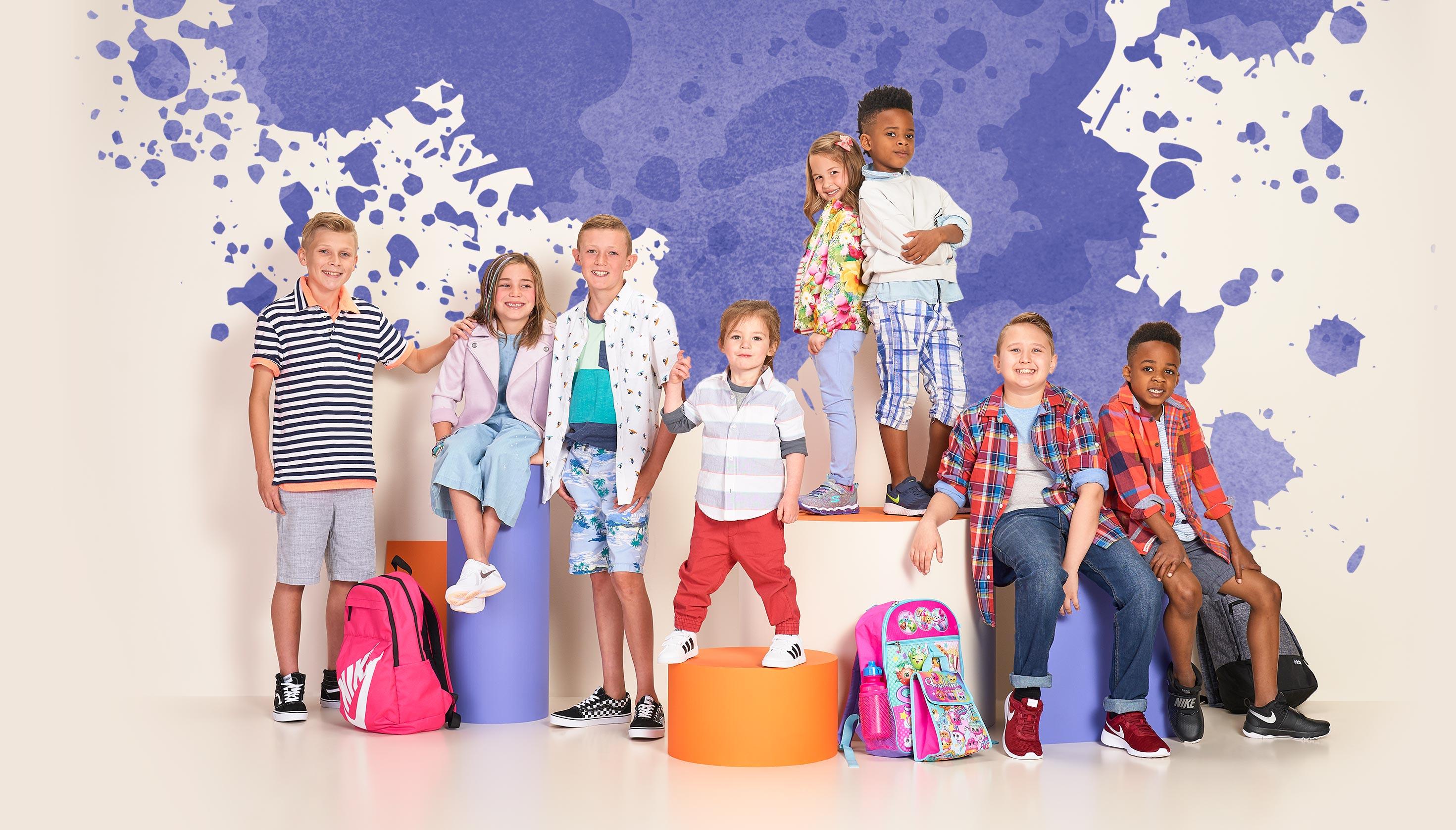 Kids Club group photo featuring Tayden, Berkley, Beckett, Weston, Laura, Bryson, Nicholas, Brayden