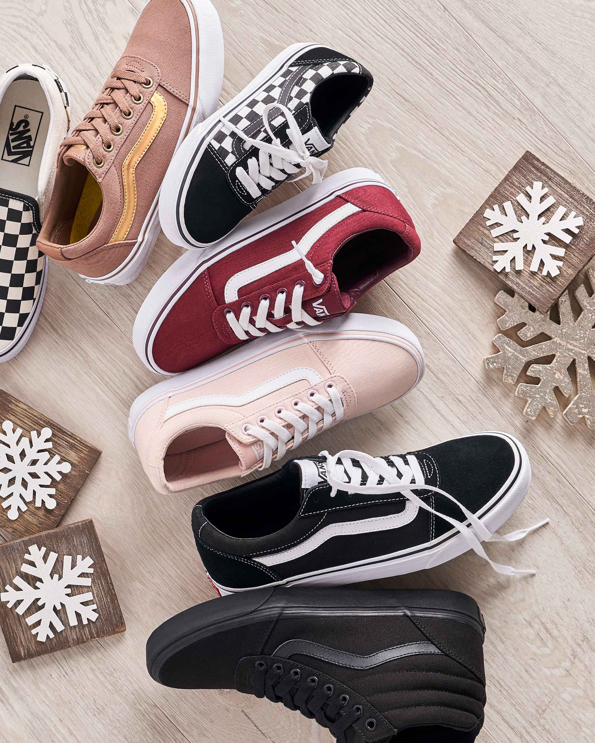 Assorted vans sneakers