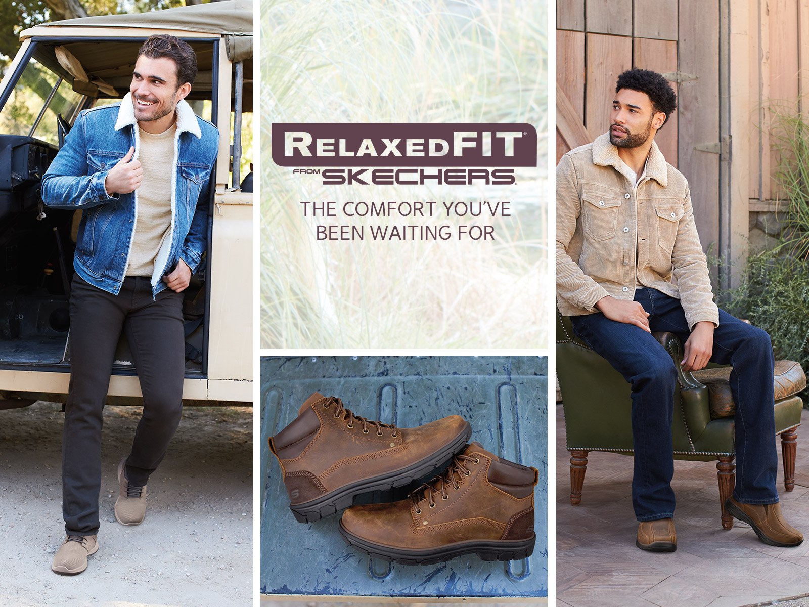 mens relaxed fit skechers