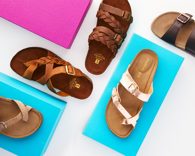 assorted footbed sandals