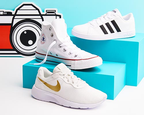 nike, adidas, converse white-hot sneakers