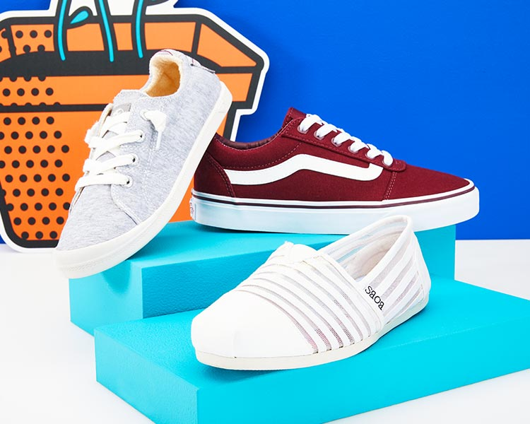 Vans and skechers casual shoes