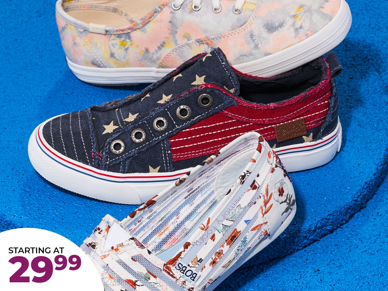 assorted keds and skechers canvas casuals starting at $29.99