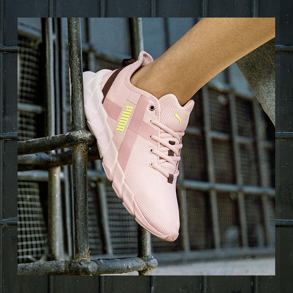 puma pink on pink sneaker