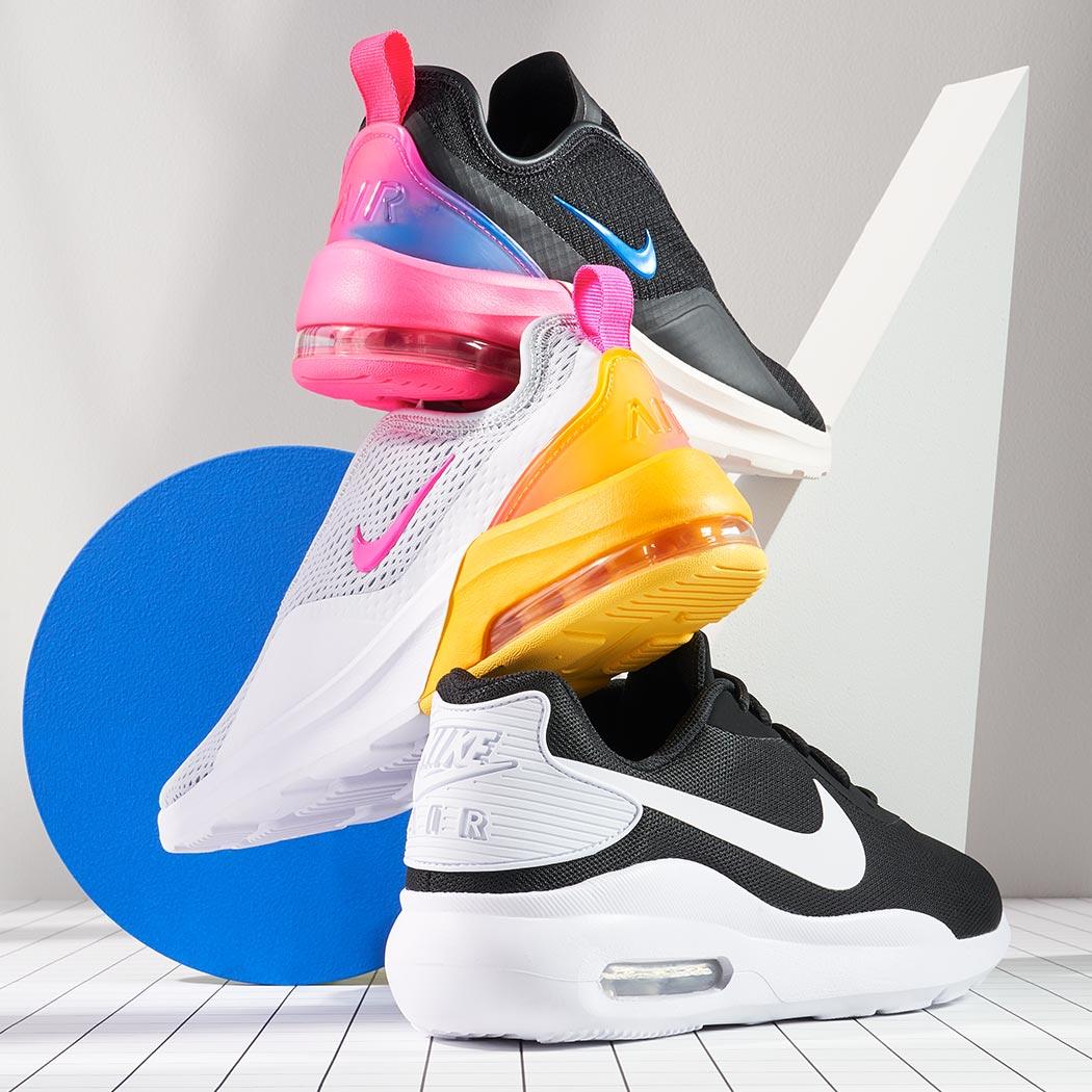 assorted nike air sneakers
