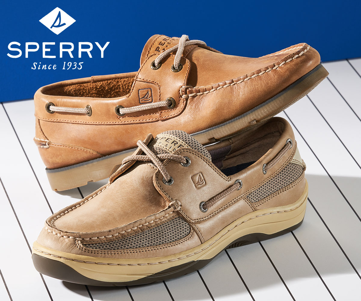 men's brown leather sperry casuals