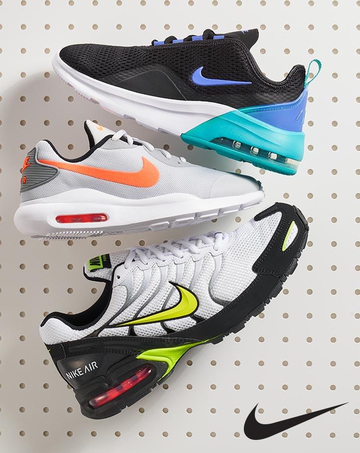 assorted nike air athletic sneakers