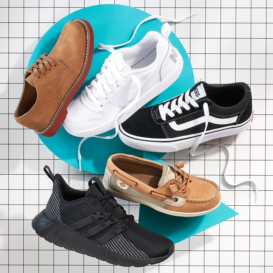 assorted vans, adidas, nike, and sperry shoes