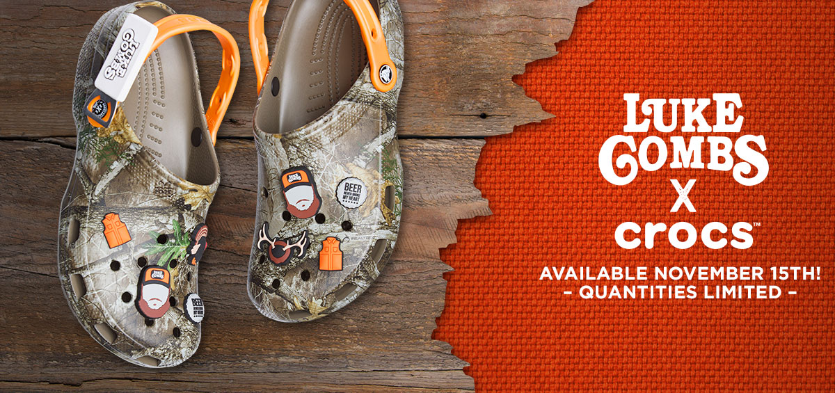 Luke Combs x Crocs: Arriving November 15th! Quantities limited.