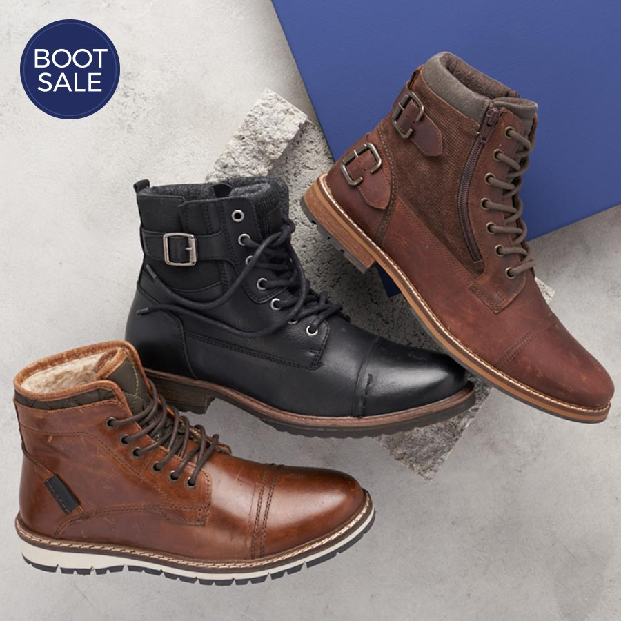 assorted classic mens boots
