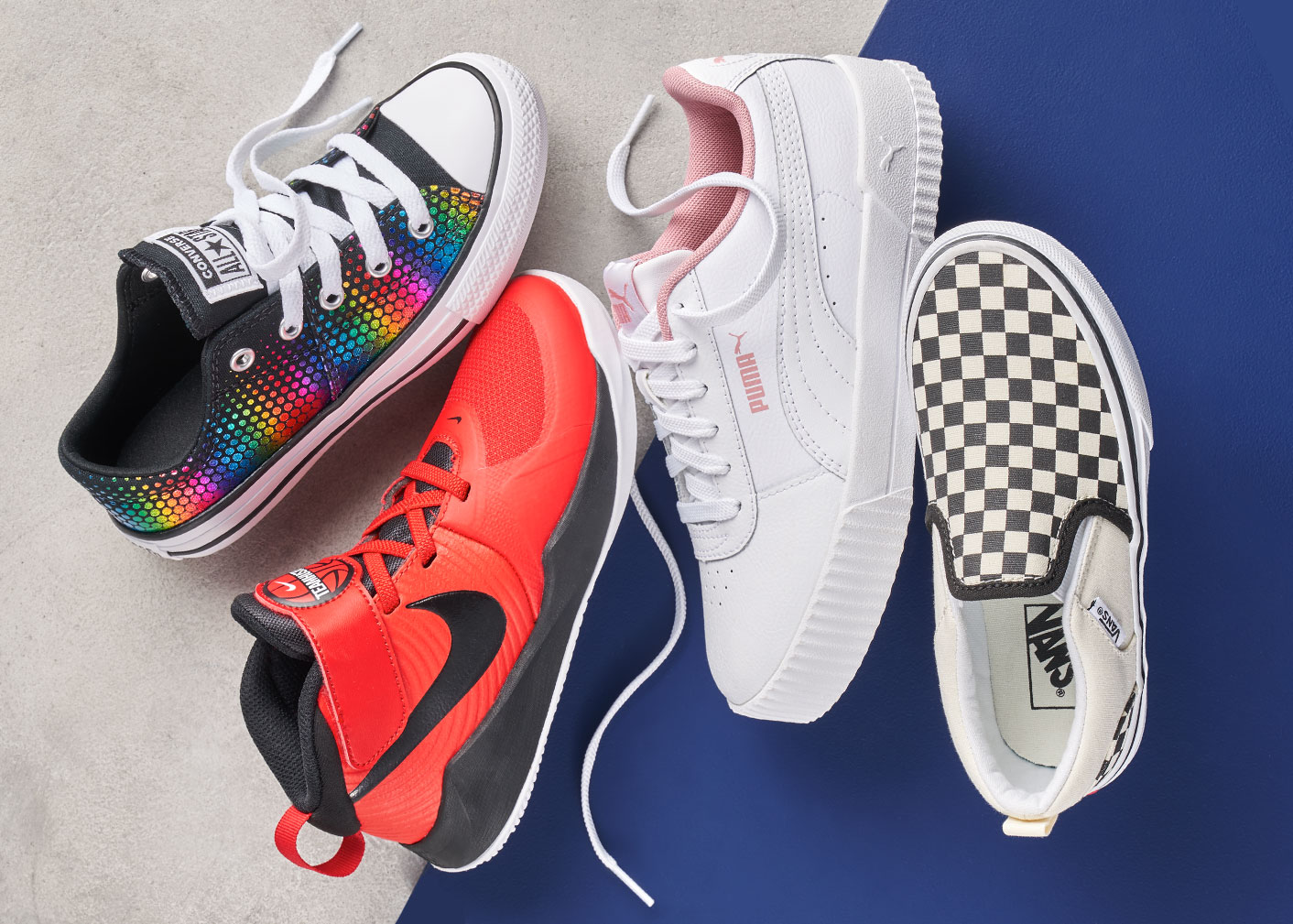 assorted converse, nike, puma and vans sneakers