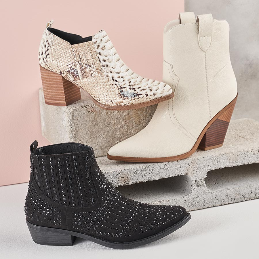 assorted western influenced boots