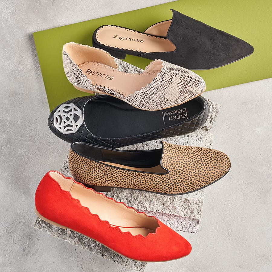 assorted womens casual flats