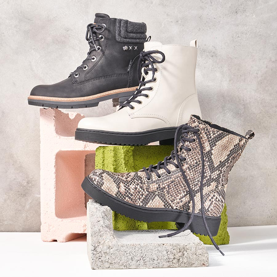 assorted womens combat boots