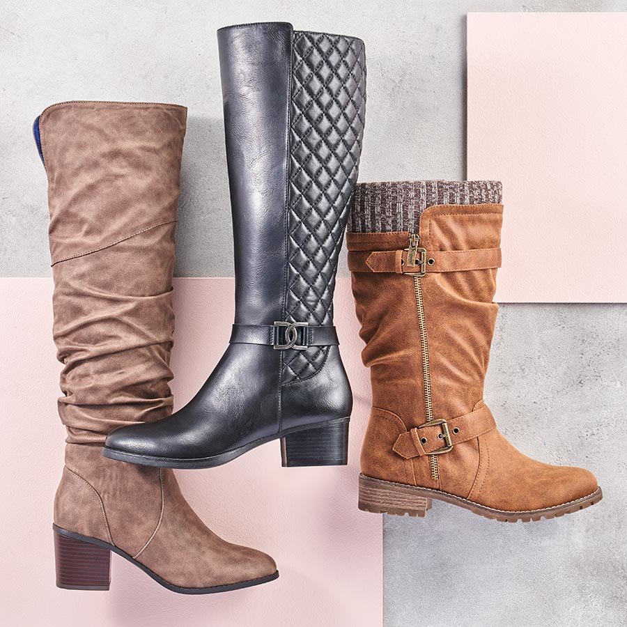 assorted tall riding boots