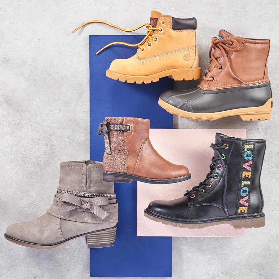 assorted kids boots