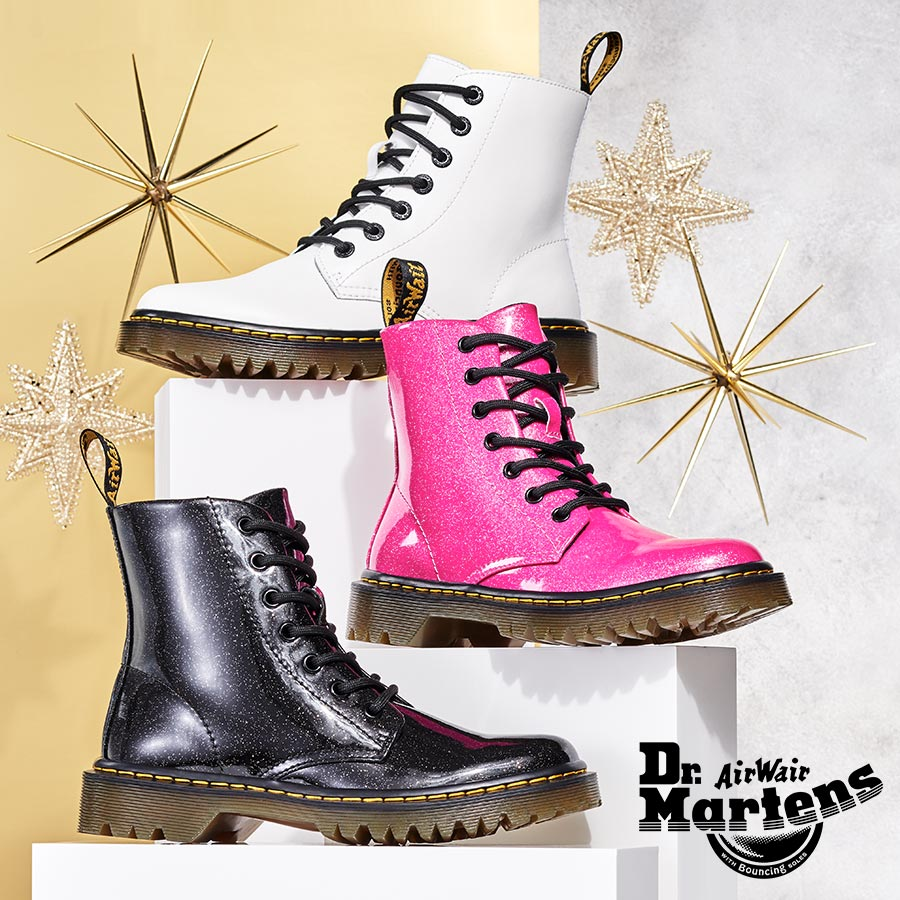 assorted Dr Martens boots
