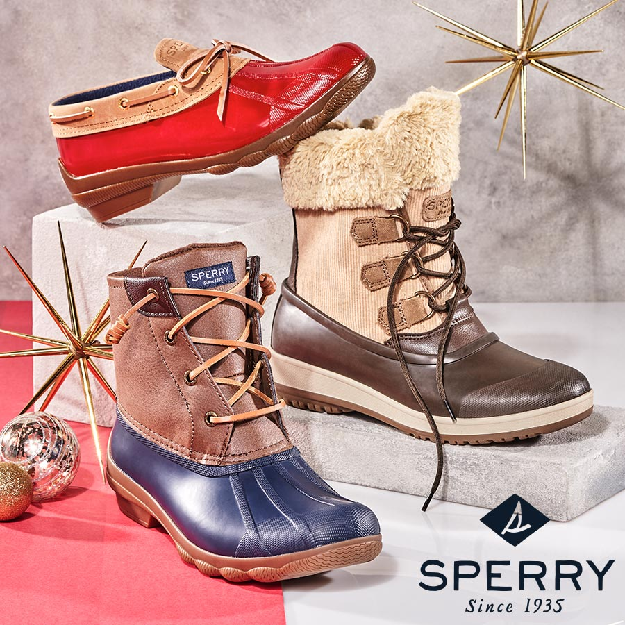 assorted sperry duck boots