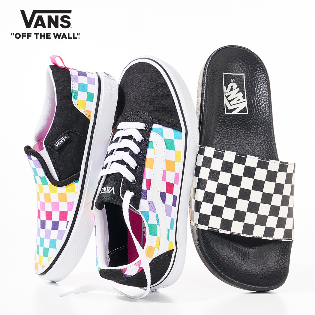 assorted vans checkerboard styles