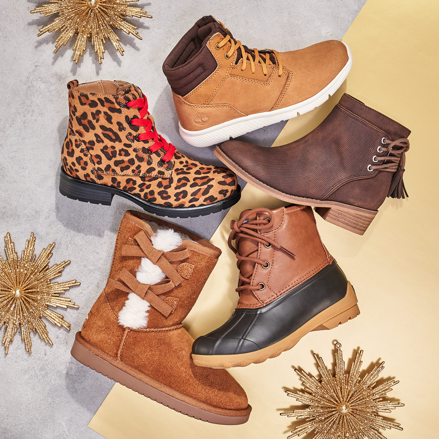 assorted kid's boots including timberland, sperry, and koolaburra by ugg boots