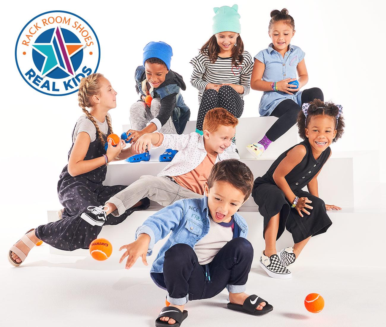 kids club kids in sporty shoes