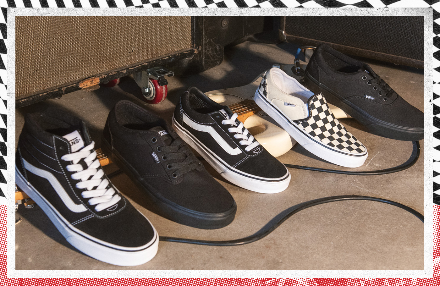 stylish assortment of cool vans