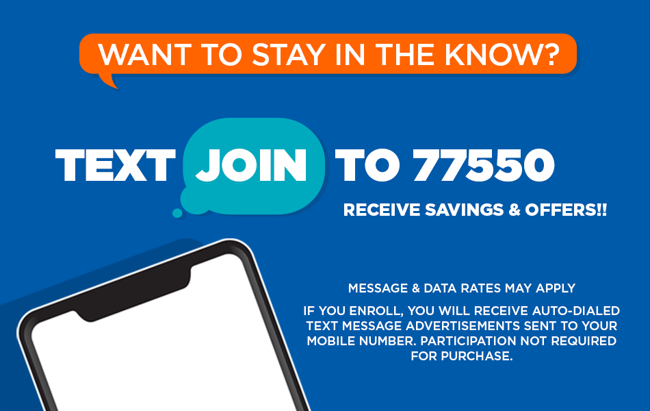 Want to stay in the know? Text to join.