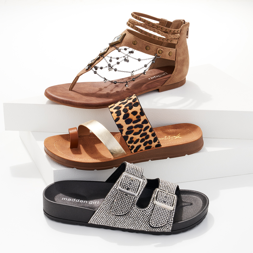 assorted limelight, maddengirl and xappeal sandals