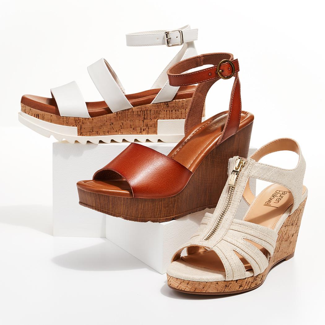 stylish wedge sandals