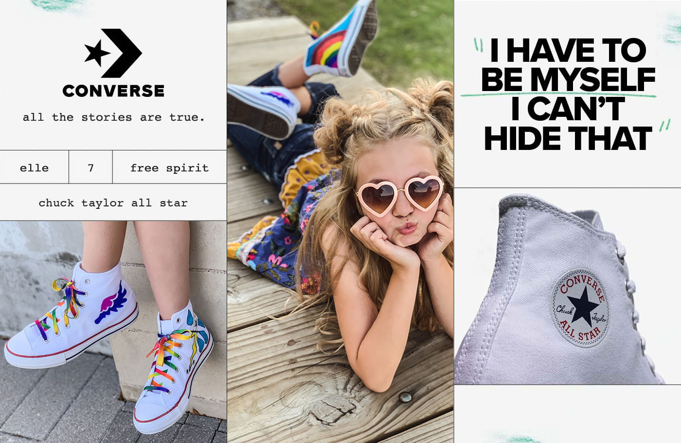 Elle wearing converse chuck taylor classic hi-tops