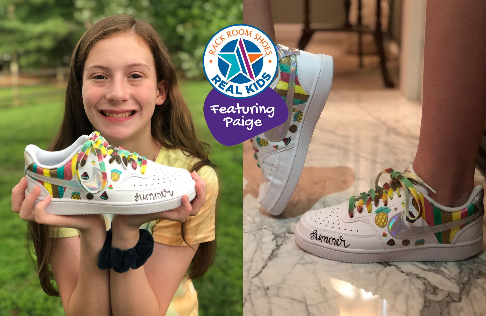 nike sneakers decorated by Paige