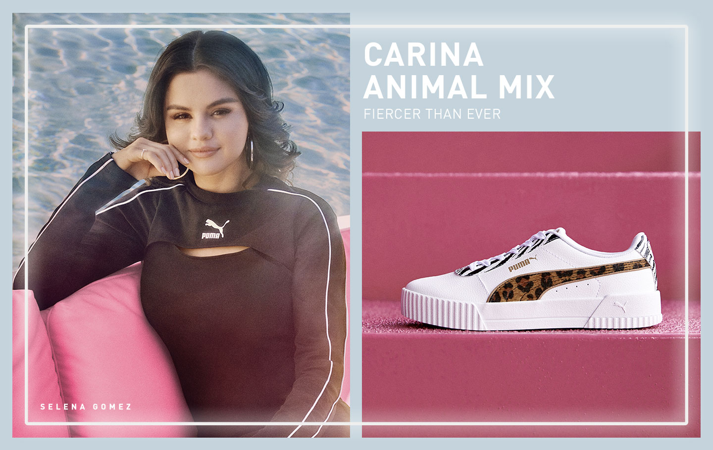 Selena Gomez wears Carina Animal Mix.