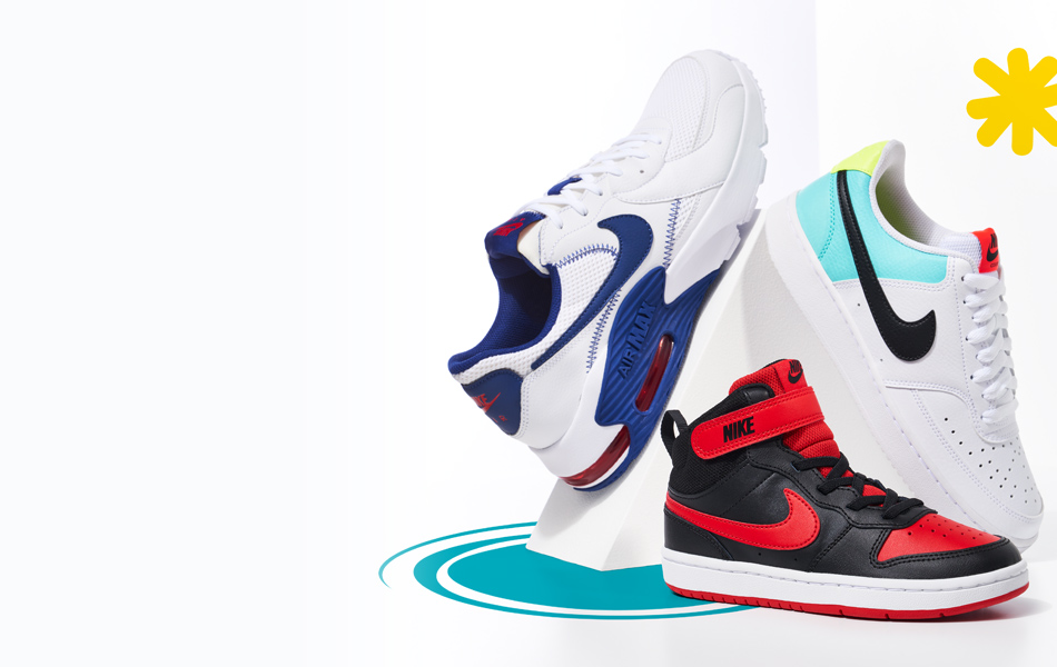 brightly colored nike sneakers