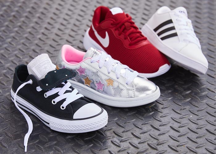 Kids athletic shoes.