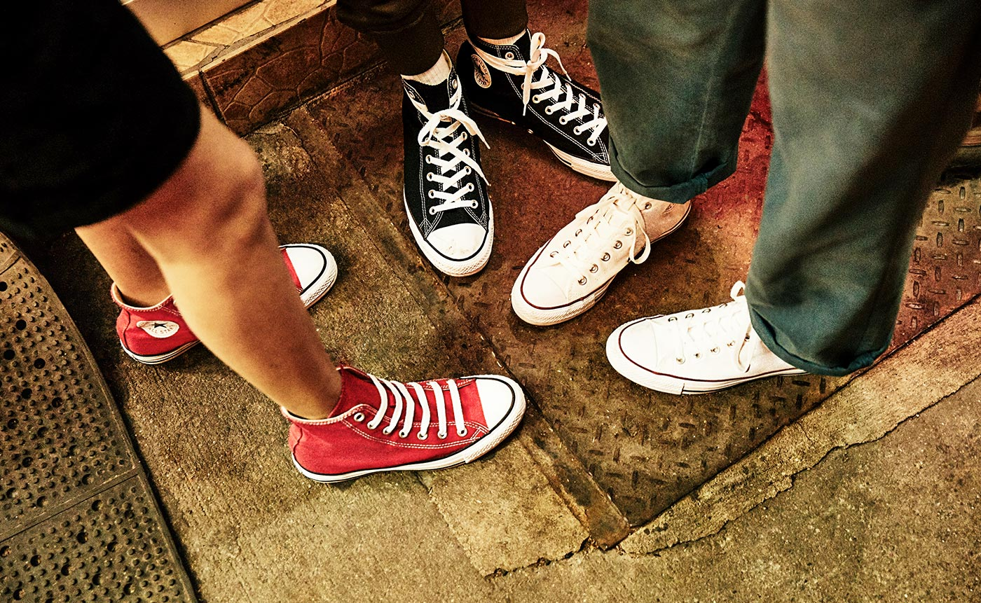 assorted classic converse sneakers
