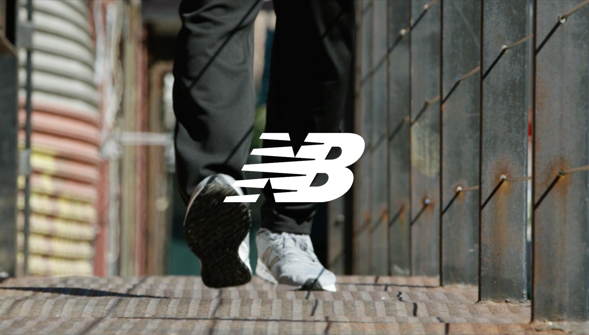 young man wearing new balance sneakers
